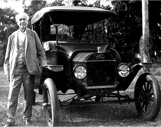 Henry Ford and his famous Model T automobile