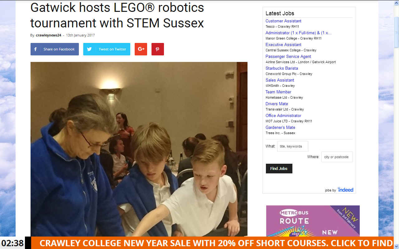 Crawley News, Gatwick hosts STEM Sussex