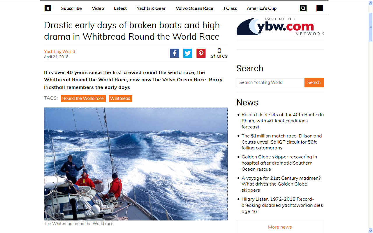 Whitbread round the world yacht race