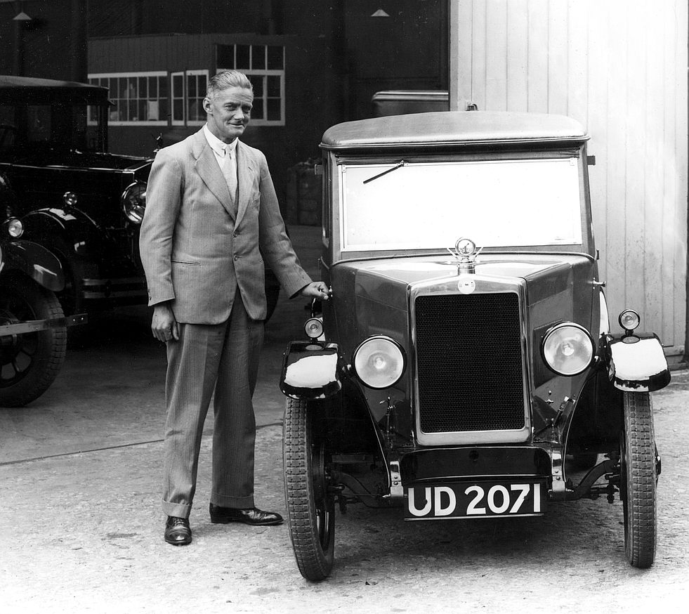 William Morris with an early MG