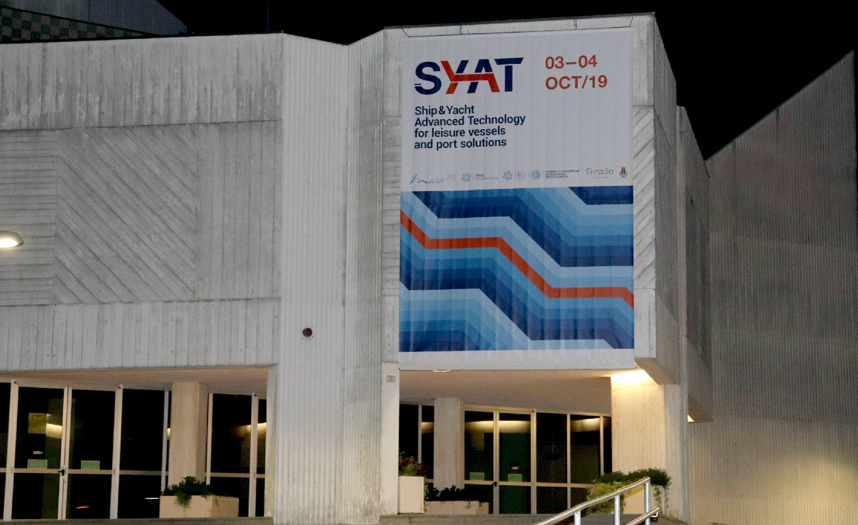 The SYAT conference building in Grado, advanced leisure vessels and port solutions