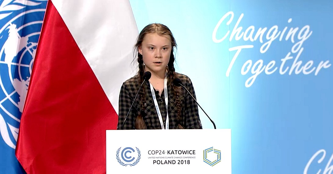 Greta Thunberg, Swedish schoolgirl 15 telling the United Nations to  secure her future
