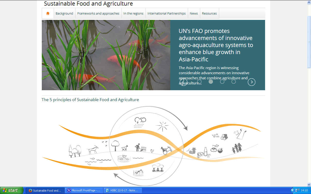 Sustainable food and agriculture United Nations aquaculture for Asia-Pacific