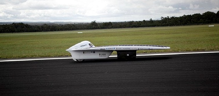 Sunswift solar powered land speed record holder